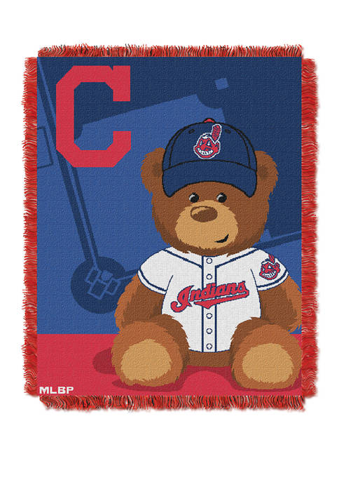 MLB Cleveland Indians Field Bear Baby Woven Jacquard Throw