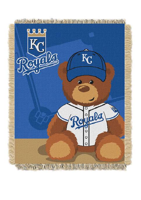 MLB Kansas City Royals Field Bear Baby Woven Jacquard Throw