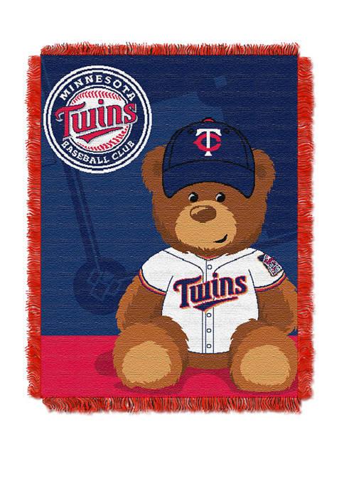 MLB Minnesota Twins Field Bear Baby Woven Jacquard Throw