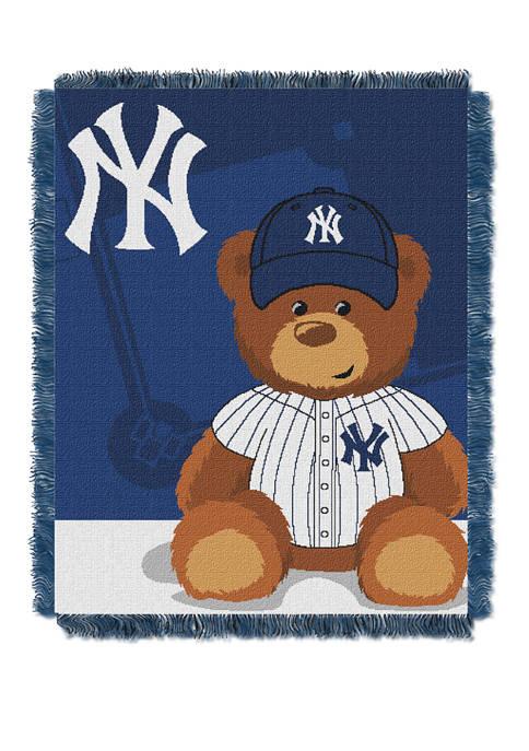 MLB New York Yankees Field Bear Baby Woven Jacquard Throw