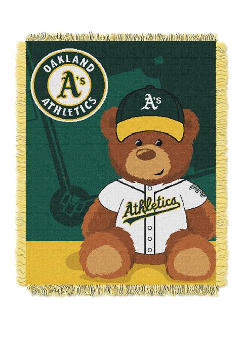 MLB Oakland Athletics Field Bear Baby Woven Jacquard Throw