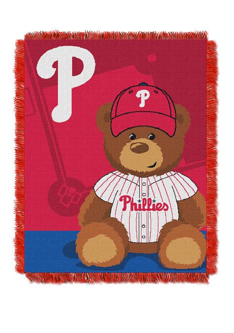 MLB Philadelphia Phillies Field Bear Baby Woven Jacquard Throw