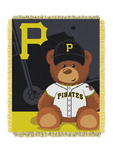 MLB Pittsburgh Pirates Field Bear Baby Woven Jacquard Throw