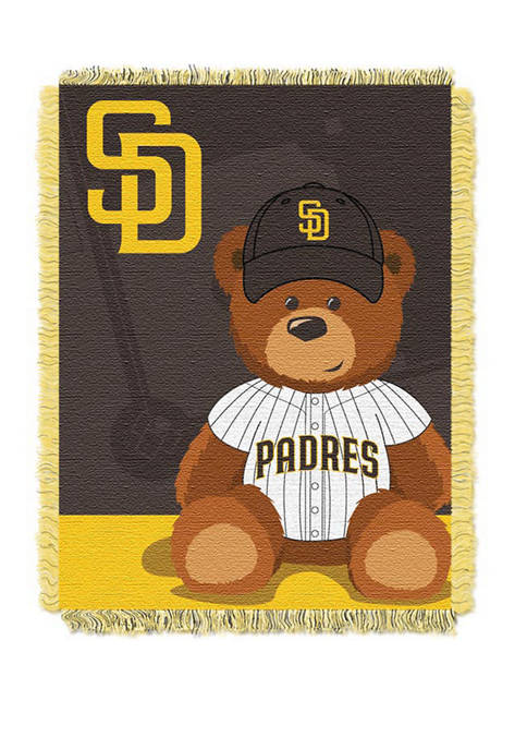 MLB San Diego Padres Field Bear Baby Woven Jacquard Throw