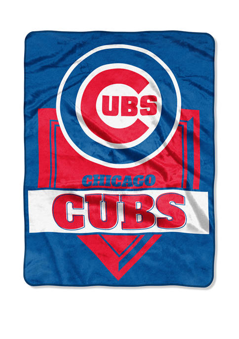 MLB Chicago Cubs Home Plate Raschel Throw Blanket