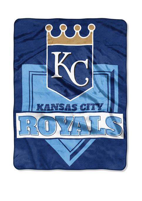 MLB Kansas City Royals Home Plate Raschel Throw Blanket