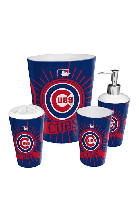 MLB Chicago Cubs 4 Piece Bath Set
