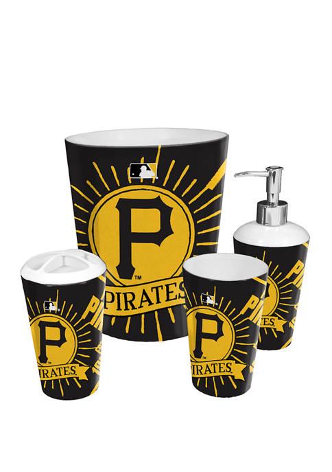 MLB Pittsburgh Pirates 4 Piece Bath Set