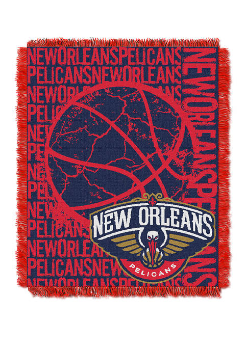 NBA New Orleans Pelicans Double Play Jacquard Woven Throw