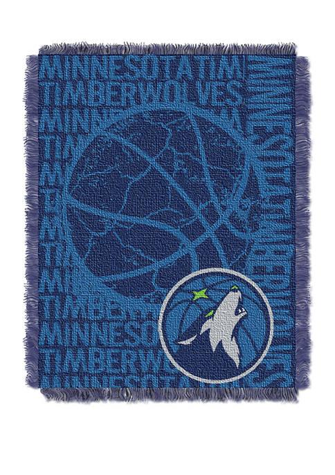 NBA Minnesota Timberwolves Double Play Jacquard Woven Throw