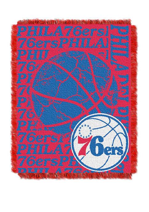 NBA Philadelphia 76ers Double Play Jacquard Woven Throw