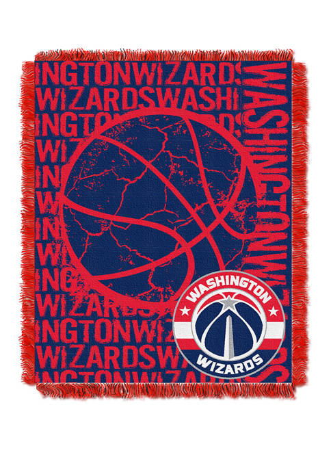 NBA Washington Wizards Double Play Jacquard Woven Throw