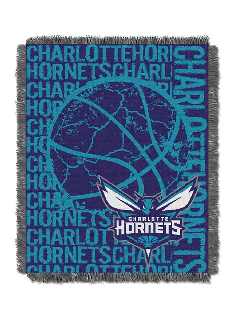 NBA Charlotte Hornets Double Play Jacquard Woven Throw