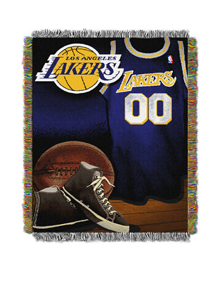 THE NORTHWEST COMPANY Los Angeles Lakers Vintage Woven Tapestry Throw