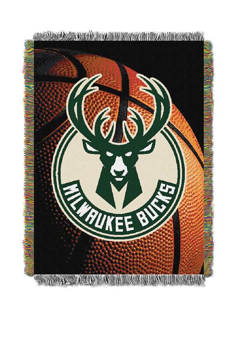48 in x 60 in NBA Milwaukee Bucks Photo Real Throw