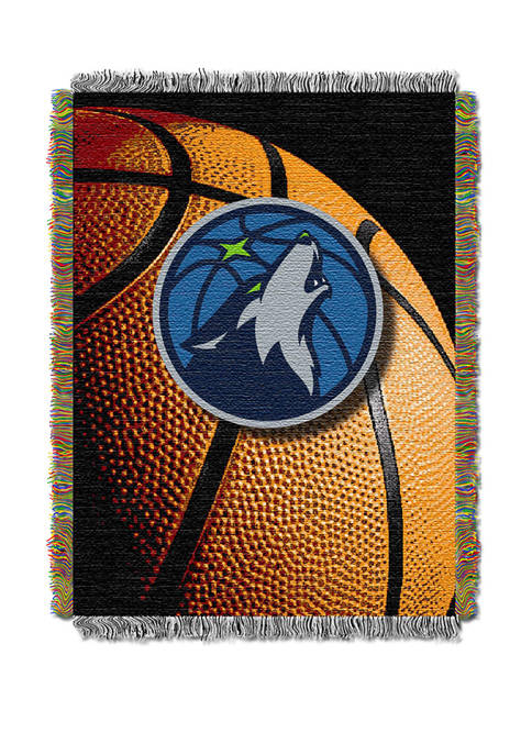 48 in x 60 in NBA Minnesota Timberwolves Photo Real Throw