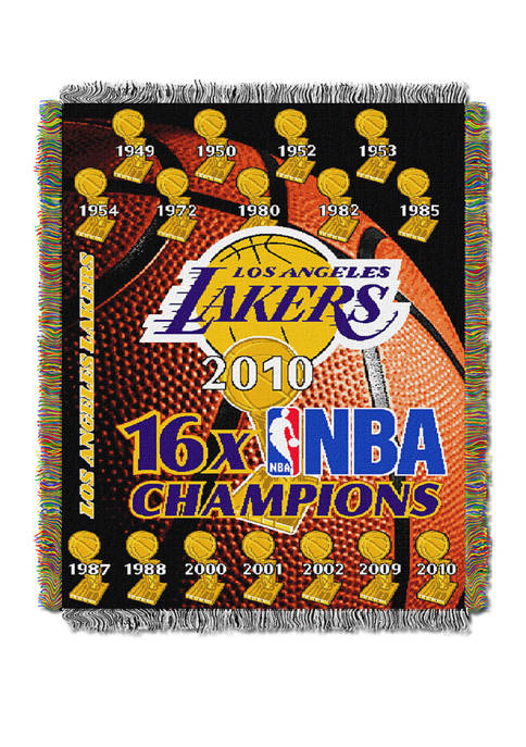 48 in x 60 in NBA Los Angeles Lakers Commemorative Series Throw