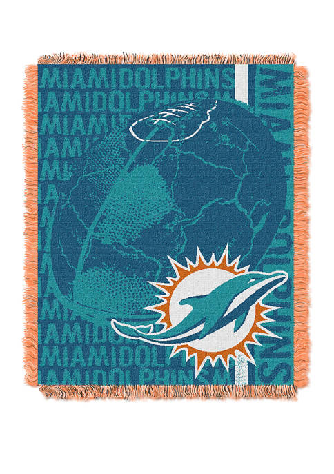 NFL Miami Dolphins Double Play Jacquard Woven Throw