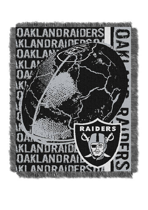 NFL Oakland Raiders Double Play Jacquard Woven Throw