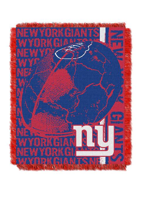 NFL New York Giants Double Play Jacquard Woven Throw