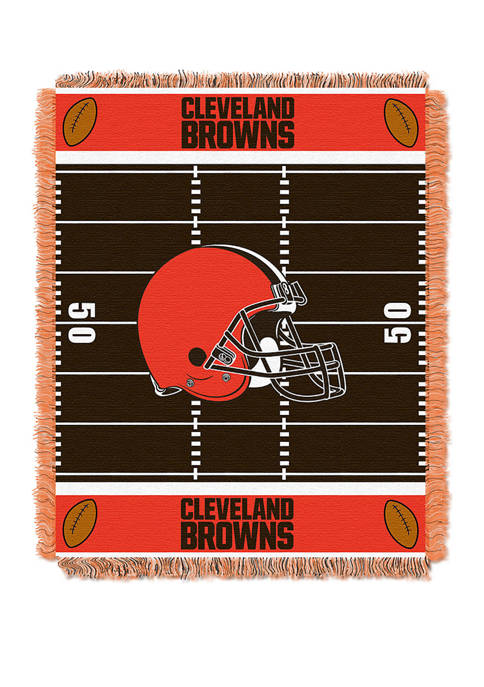 NFL Cleveland Browns Field Baby Woven Jacquard Throw