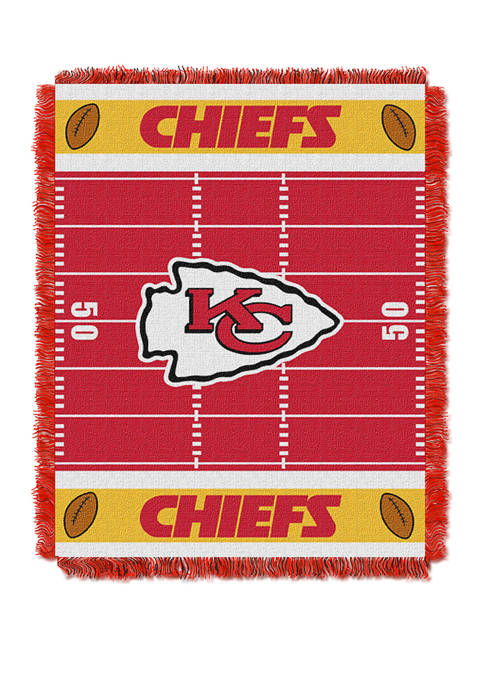 NFL Kansas City Chiefs Field Baby Woven Jacquard Throw