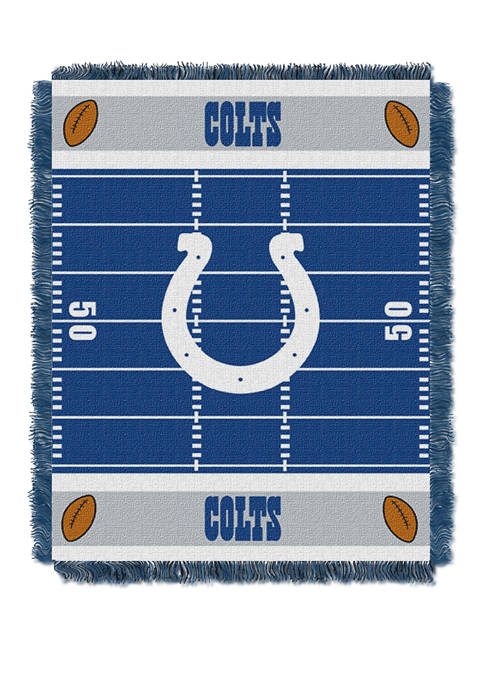 NFL Indianpolis Colts Field Baby Woven Jacquard Throw
