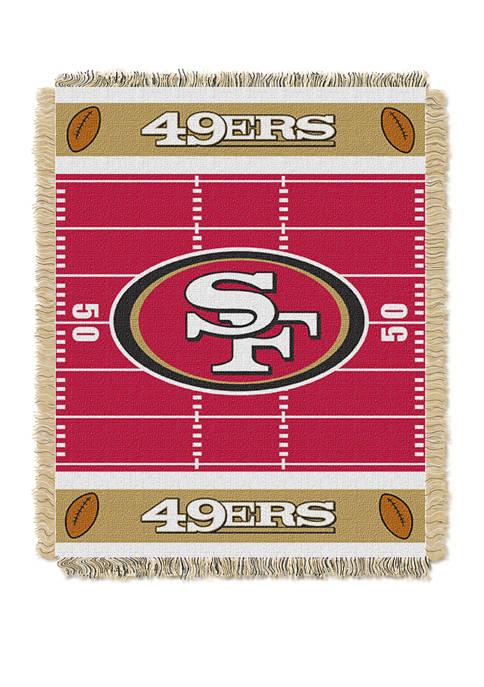 NFL San Francisco 49ers Field Baby Woven Jacquard Throw