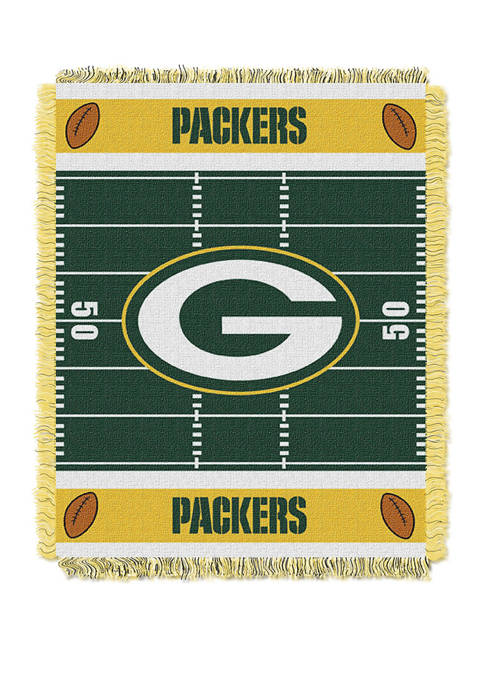 NFL Green Bay Packers Field Baby Woven Jacquard Throw