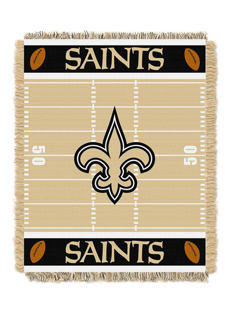 NFL New Orleans Saints Field Baby Woven Jacquard Throw