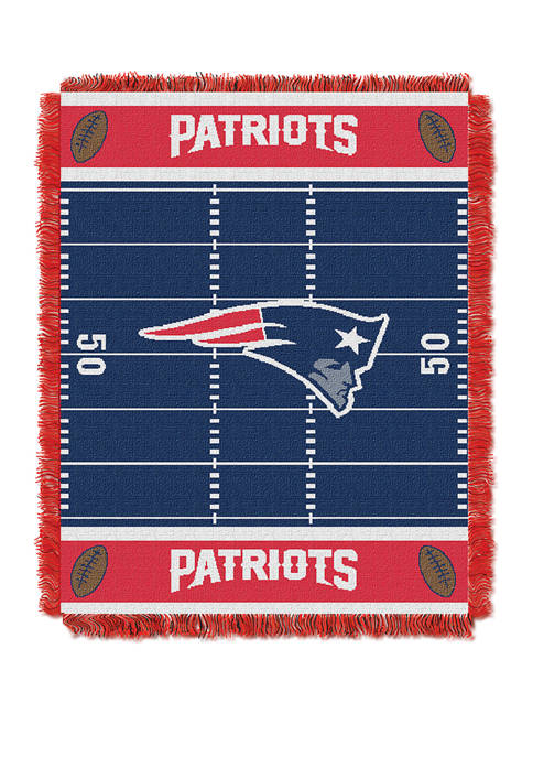 NFL New England Patriots Field Baby Woven Jacquard Throw