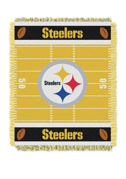 NFL Pittsburgh Steelers Field Baby Woven Jacquard Throw