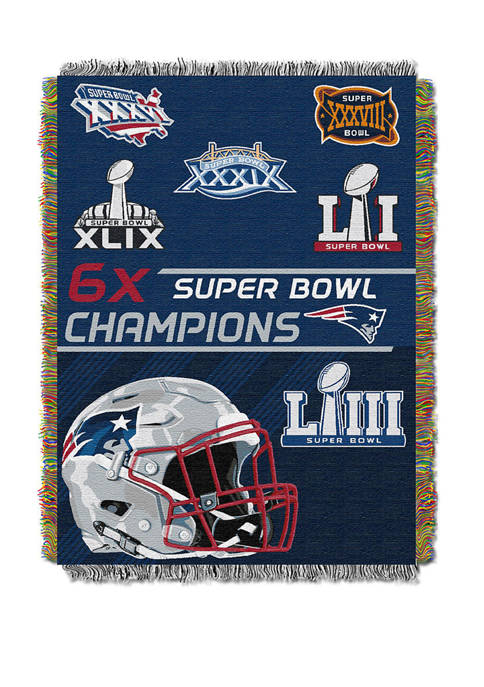 NFL New England Patriots Commemorative Series Tapestry