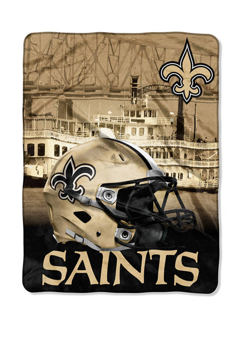NFL New Orleans Saints Heritage Silk Touch Throw