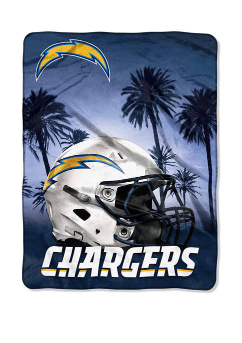 NFL Los Angeles Chargers Heritage Silk Touch Throw