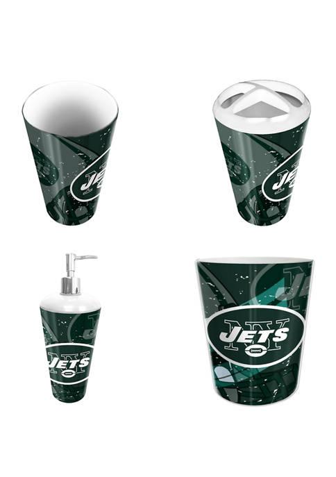 NFL New York Jets 4 Piece Bath Set