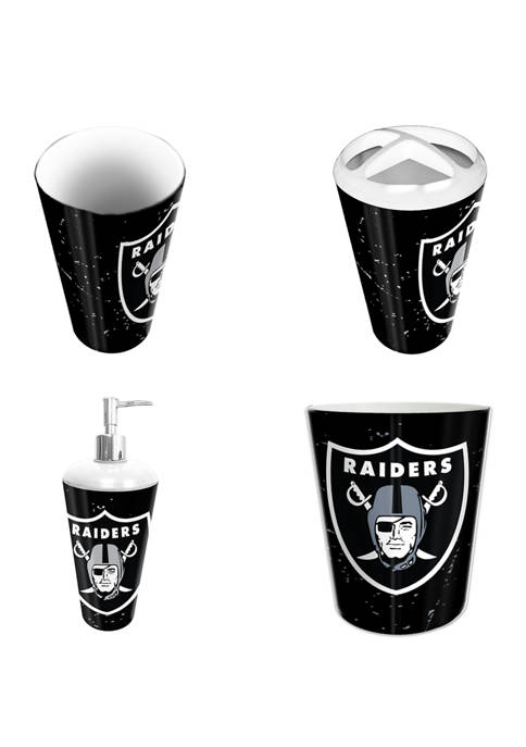 NFL Oakland Raiders 4 Piece Bath Set