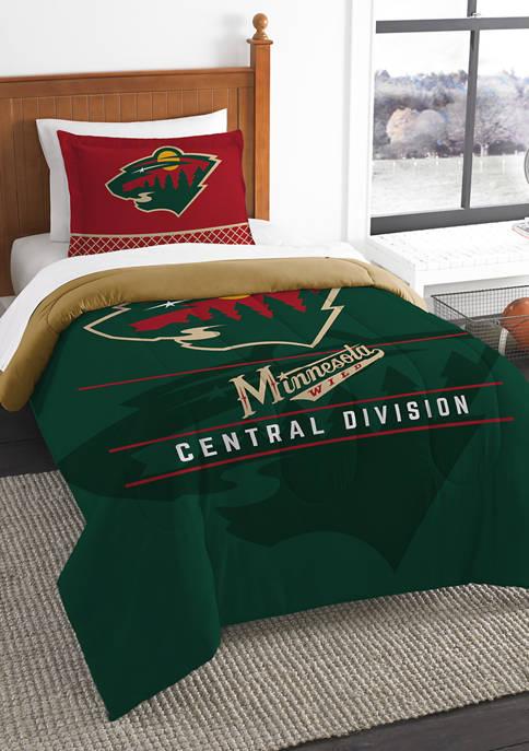 NHL Minnesota Wild Nordy Draft Twin Comforter Set