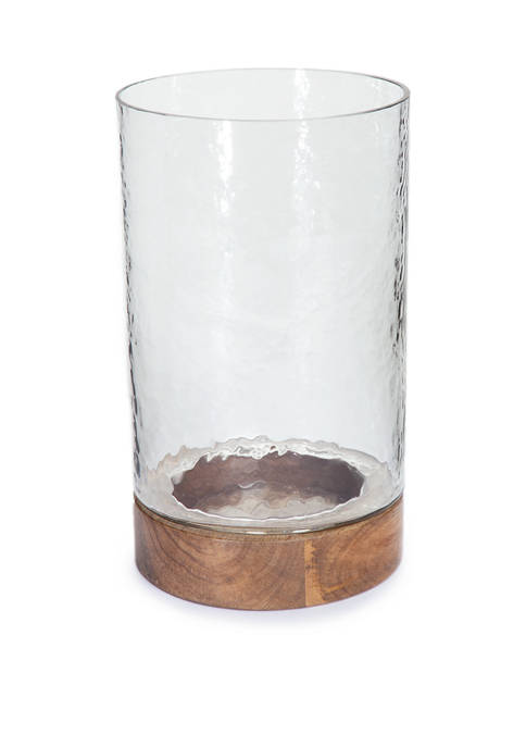 goodness & grace Small Glass Hurricane Candle Holder