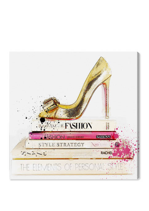 Oliver Gal Gold Shoe and Fashion Books Fashion