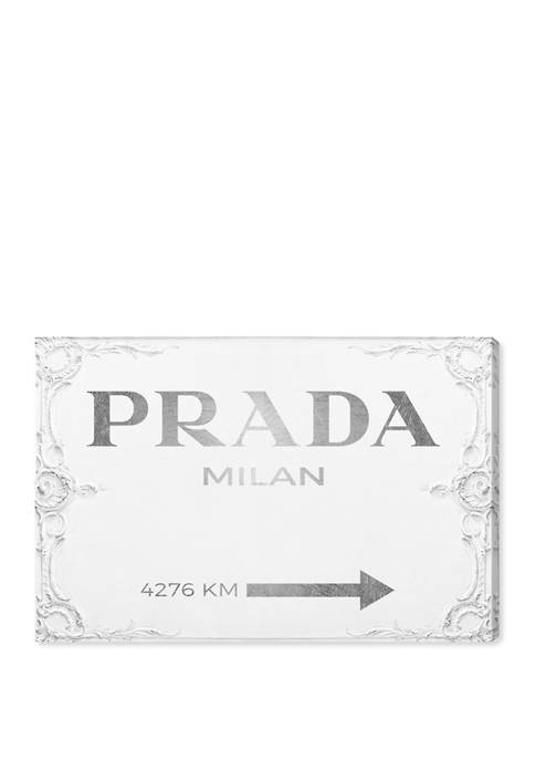 Milan Sign Fashion and Glam Wall Art Canvas Print