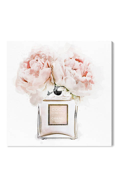 Dawn Morning Bouquet Peach Fashion and Glam Wall Art Canvas Print