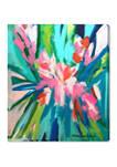 Lourdes Wackes -Garden Party II Abstract Wall Art Canvas Print