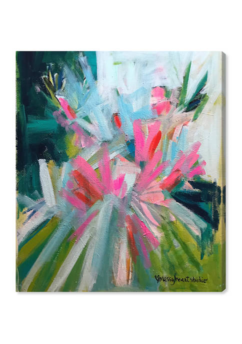 Lourdes Wackes - Garden Party Abstract Wall Art Canvas Print