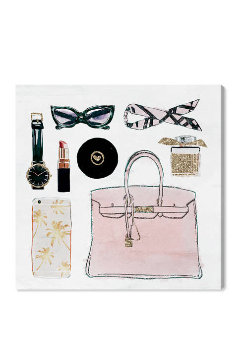 Glam Girls Summer Kit Fashion and Glam Wall Art Canvas Print