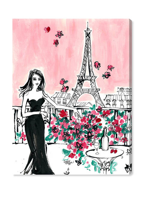 Denise Elnajjar - Blooms In Paris Fashion and Glam Wall Art Canvas Print