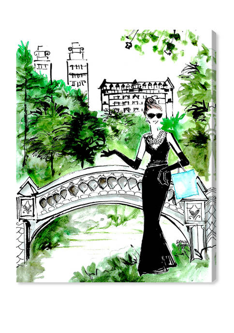 Denise Elnajjar - Breakfast At Central Park Fashion and Glam Wall Art Canvas Print