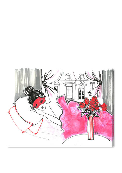 Denise Elnajjar - Sunday Morning In Paris Fashion and Glam Wall Art Canvas Print