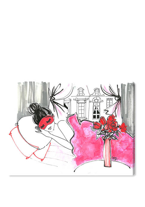 Denise Elnajjar - Sunday Morning In Paris Fashion and Glam Wall Art Canvas Print