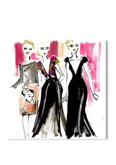 Denise Elnajjar - Schiaparelli Girls Fashion and Glam Wall Art Canvas Print